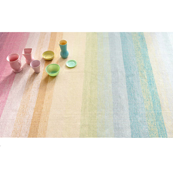 Dash and Albert Watercolor Horizon Woven Cotton Rug - Lavender Fields