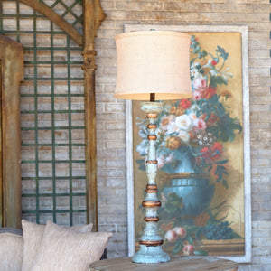 Aged Tall Charlotte Lamp - Lavender Fields