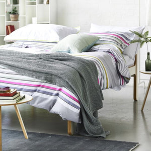 Designers Guild Alba Pale Grey Throw - Lavender Fields