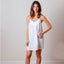 Jacaranda Living Alex White Cotton Nightgown
