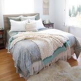 Pom Pom at Home Antwerp Moss Large Euro Pillow Sham - Lavender Fields