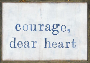 "Sugarboo Designs Courage Dear Heart Art Print (Grey Wood) 36"" x 25"""