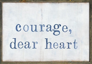 "Sugarboo Designs Courage Dear Heart Art Print (Grey Wood) 46"" x 35"""