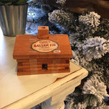 Log Cabin Burner with Balsam Fir Incense