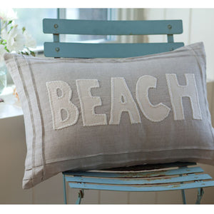 Taylor Linens Natural Beach Pillow - Lavender Fields
