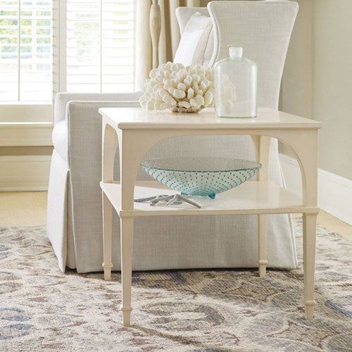 Somerset Bay Bellport Bay End Table with Shelf - Express Ship - Lavender Fields