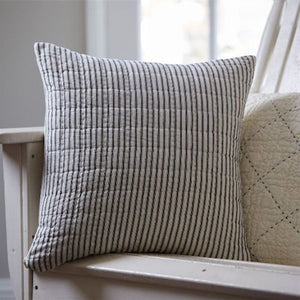Taylor Linens Bergen Stripe Black Porch Pillow - Lavender Fields