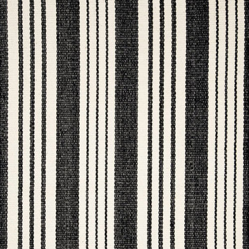 Dash and Albert Birmingham Black Stripe Indoor/Outdoor Rug - Lavender Fields