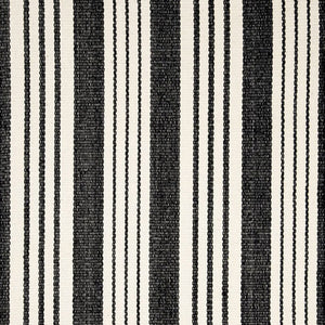 Dash and Albert Birmingham Black Stripe Indoor/Outdoor Rug