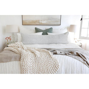 Pom Pom at Home Finn Antique White Throw - Lavender Fields
