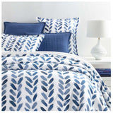 Pine Cone Hill Blue Brush Duvet Cover - Lavender Fields