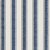 Dash and Albert Blue Awning Stripe Woven Cotton Rug