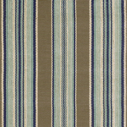 Dash and Albert Blue Heron Stripe Woven Cotton Rug - Lavender Fields