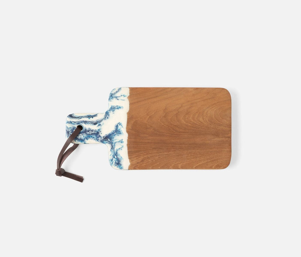 Blue Pheasant Austin Blue Swirled Serving Board - Lavender Fields