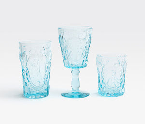 Blue Pheasant Grace Soft Blue Glassware - Lavender Fields
