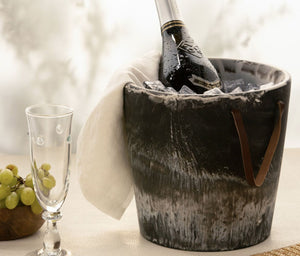 Blue Pheasant Wesley Black Swirled Ice Bucket