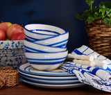 Blue Pheasant Mark D. Sikes Hyannis Serving Bowls & Dinner Plates - Lavender Fields