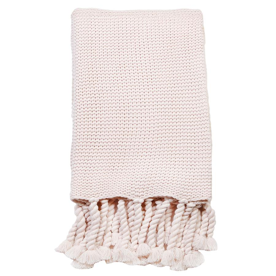 Pom Pom at Home Trestles Blush Throw - Lavender Fields