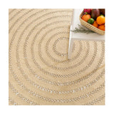Dash and Albert Bowline Natural Indoor/Outdoor Rug - Lavender Fields