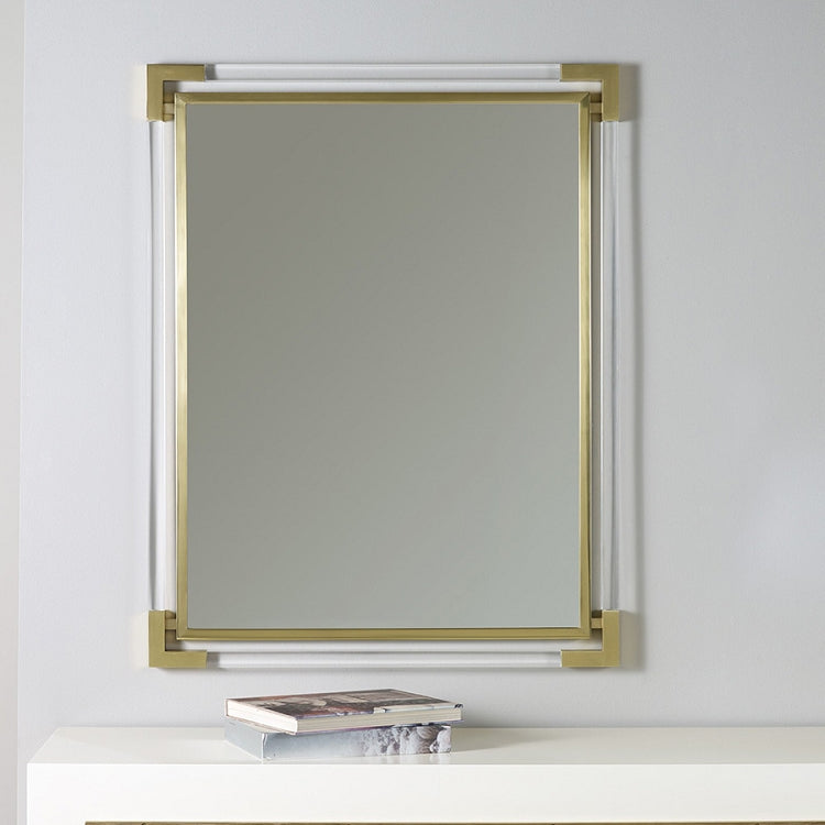 Modern History Brass Mirror with Plexi