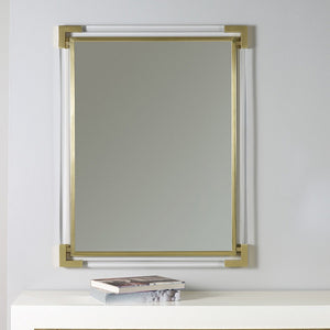 Modern History Brass Mirror with Plexi - Lavender Fields