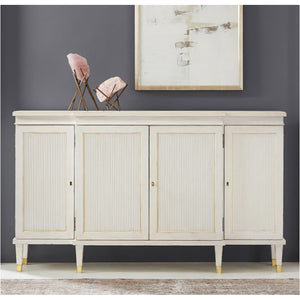 Modern History Swedish Reeded Breakfront Cabinet - Lavender Fields