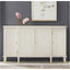Modern History Swedish Reeded Breakfront Cabinet