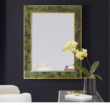Modern History Brice Rectangle Mirror-Emerald Penshell - Lavender Fields