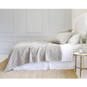 Pom Pom at Home Brussels Taupe Coverlet - Lavender Fields