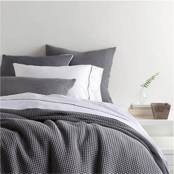 Pine Cone Hill Bubble Grey Matelasse Coverlet - Lavender Fields