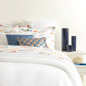 Pine Cone Hill Bubble White Matelasse Coverlet - Lavender Fields