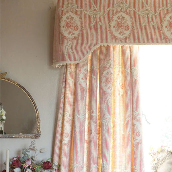 Kate Forman Cameo Ribbons Tuscan Pink Fabric - Lavender Fields