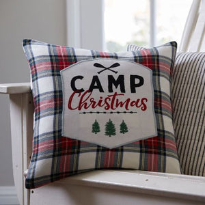 Camp Christmas Pillow - Lavender Fields