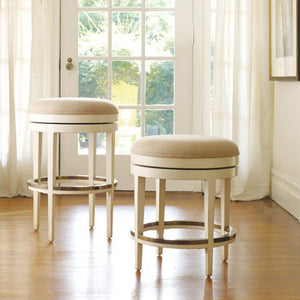 Somerset Bay Carmel Backless Swivel Stool  - Express Ship - Lavender Fields