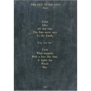 Sugarboo Designs The Sun Never Says Poetry Collection Sign (Gallery Wrap) - Lavender Fields