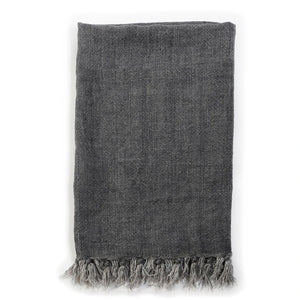 Pom Pom at Home Montauk Throw - Charcoal - Lavender Fields