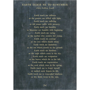 Sugarboo Designs Earth Teach Me to Remember - Poetry Collection Sign (Gallery Wrap) - Lavender Fields