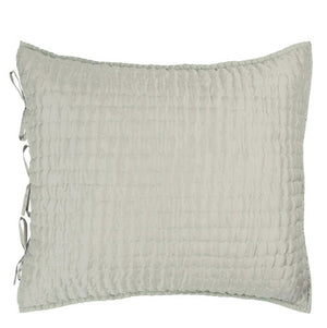Designers Guild Chenevard Pebble & Duck Egg Silk Pillowcase