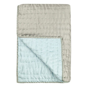 Designers Guild Chenevard Pebble & Duck Egg Silk Quilt