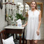 Jacaranda Living Chloe White Cotton Nightgown