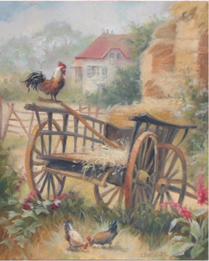 Christie Repasy Country Life Original Canvas Print - Lavender Fields