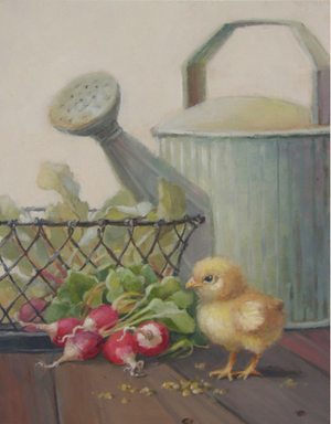 Christie Repasy My Little Chick-a-dee Original Canvas Print - Lavender Fields
