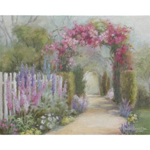 Christie Repasy Cottage Garden Original Canvas Print - Lavender Fields