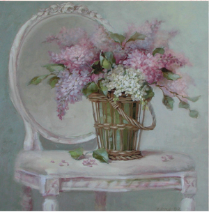 Christie Repasy French Lilacs Original Canvas Print
