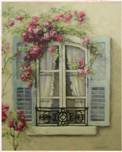 Christie Repasy French Window Original Canvas Print