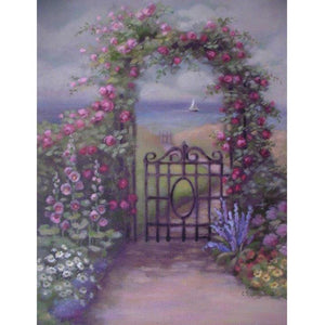 Christie Repasy Garden Gate Original Canvas Print - Lavender Fields