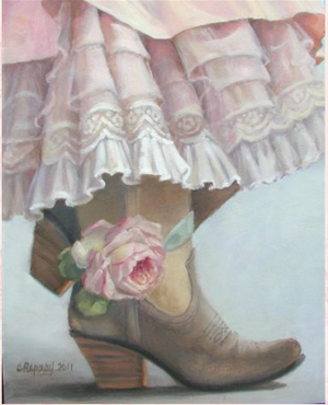 Christie Repasy Sweet n' Sassy Original Canvas Print - Lavender Fields