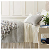 Pine Cone Hill Classic Hemstitch Ivory Bed Skirt
