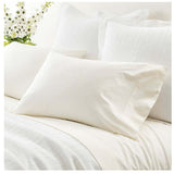 Pine Cone Hill Classic Hemstitch Ivory Pillowcases
