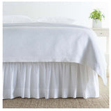 Pine Cone Hill Classic Hemstitch White Bed Skirt